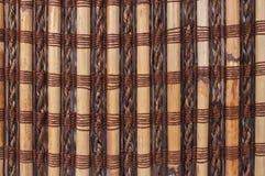 Textuur een bamboe met stof het weven Royalty-vrije Stock Afbeeldingen