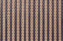 Textuur een bamboe met stof het weven Stock Foto