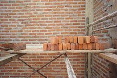 Textuur en achtergrond van metselaar en concrete muur stock fotografie