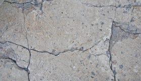 Textuur en achtergrond van oud beton met barsten e royalty-vrije stock foto's