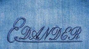 Textuur en Behangjeans stock afbeelding