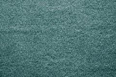 Textuur gevoelde stof van groenachtig blauwe kleur Royalty-vrije Stock Foto