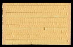 Textuur golfkarton, de gecombineerde stapel in de contextstapel Royalty-vrije Stock Foto