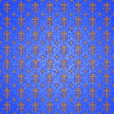 Textuur: gouden kruisen Stock Foto
