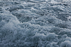 Textuur grijze overzeese golven Royalty-vrije Stock Afbeelding