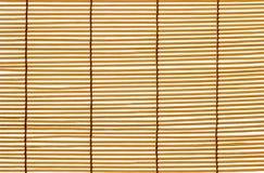 Textuur Houten Zonneblinden Gestikte Kabel Identieke latten stock afbeeldingen