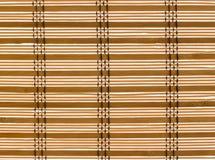 Textuur Houten Zonneblinden Gestikte Kabel stock foto's