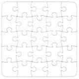 Textuur Lege witte puzzel Royalty-vrije Stock Afbeeldingen