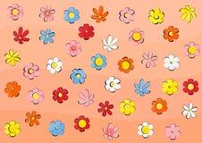 Textuur met bloemen Stock Afbeelding