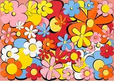 Textuur met bloemen Stock Fotografie