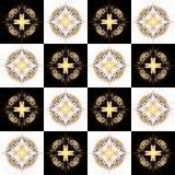 Textuur met 3D teruggevend abstract fractal waaierpatroon Stock Fotografie