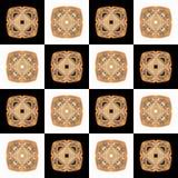Textuur met 3D teruggevend abstract fractal waaierpatroon Stock Afbeelding