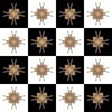 Textuur met 3D teruggevend abstract fractal waaierpatroon Royalty-vrije Stock Afbeeldingen