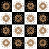 Textuur met 3D teruggevend abstract fractal waaierpatroon stock illustratie