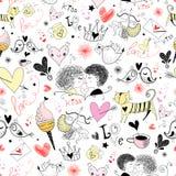 Textuur met de Dag van de Valentijnskaart \ \ \ 's Royalty-vrije Stock Afbeeldingen