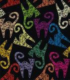 Textuur met katten Royalty-vrije Stock Foto's