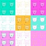 Textuur met katten Stock Afbeelding