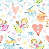 Textuur met kleine feeën Royalty-vrije Stock Foto's