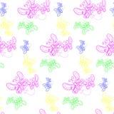 Textuur met mooie vliegende vlinders op achtergrond Royalty-vrije Stock Afbeeldingen