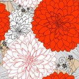 Textuur met rode bloemen Royalty-vrije Stock Afbeeldingen