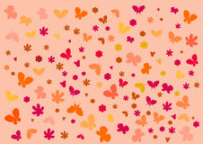 Textuur met vlinders stock illustratie