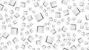 Textuur, naadloos patroon van document zakken met handvatten, het winkelen vakjes Affiche voor klantenverkoop Vector illustratie vector illustratie