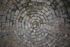 Textuur - Oude witte rotsbakstenen in cirkels royalty-vrije illustratie