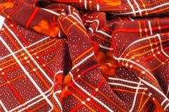 Textuur, patroon, achtergrond Stoffenzijde De donkere kleur van Bourgondië Royalty-vrije Stock Fotografie