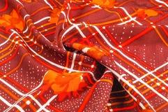 Textuur, patroon, achtergrond Stoffenzijde De donkere kleur van Bourgondië Stock Afbeeldingen
