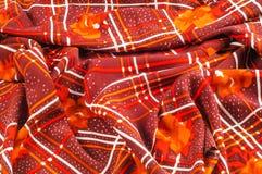 Textuur, patroon, achtergrond Stoffenzijde De donkere kleur van Bourgondië Royalty-vrije Stock Foto's