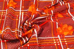 Textuur, patroon, achtergrond Stoffenzijde De donkere kleur van Bourgondië Stock Foto's