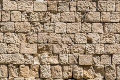 Textuur, patroon, achtergrond van middeleeuwse steenmuur Royalty-vrije Stock Afbeelding
