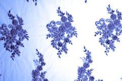 Textuur, patroon 3D kantstof, beadwork, bruids kant, Frans, Stock Afbeelding