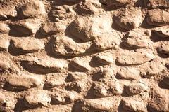 Textuur, patroon, muur, kiezelstenen, stenen Stock Afbeelding