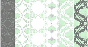 Textuur, reeks naadloze texturen en patronen Stock Afbeelding