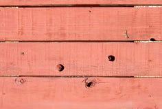 Textuur: Rode Houten Muur Stock Afbeelding
