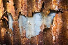 Textuur roestig zink Stock Foto