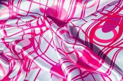 Textuur, stof, achtergrond Textuur van een vrouwelijke kleding met a Stock Foto's