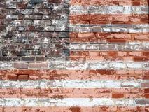 Textuur - USAflagbrickwall Stock Afbeelding