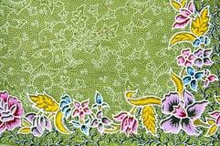 Textuur van algemene traditionele Thaise stof Stock Foto