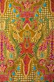 Textuur van algemene traditionele Thaise stof Stock Afbeelding