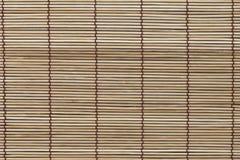 Textuur van bamboemat, gordijn Stock Afbeeldingen