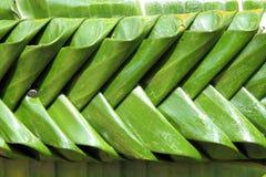 Textuur van banaanblad met de hand gemaakt in Kratong-festival Stock Foto