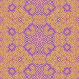 Textuur van behang de kubieke bloemen naadloze geproduceerde huren Stock Fotografie