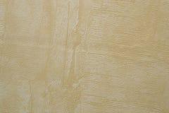 Textuur van beige gepleisterde muur Stock Fotografie