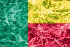Textuur van Benin vlag stock illustratie