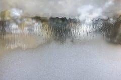 Textuur van berijpt glas Abstracte de winterachtergrond Stock Afbeelding