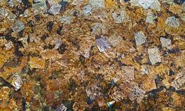 Textuur van bladgoudachtergrond stock fotografie