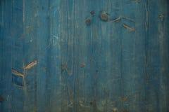 Textuur van Blauw hout met knopen en details stock foto