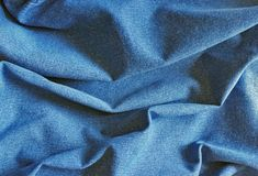 Textuur van blauw katoen Stock Afbeelding